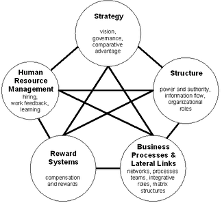 Galbraith's Star Model of organizational design