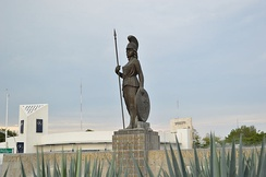 Statue of La Minerva in Guadalajara, where one of the protests took place