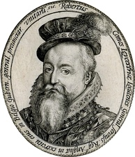 Leicester as Governor-General, 1586. Engraving by Hendrik Goltzius