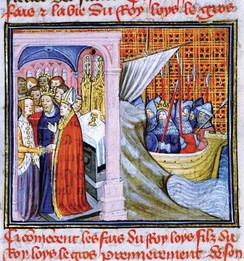 14th-century representation of the wedding of Eleanor of Aquitaine to Louis of France
