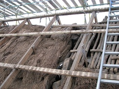 Section through the thatch at Moirlanich Longhouse