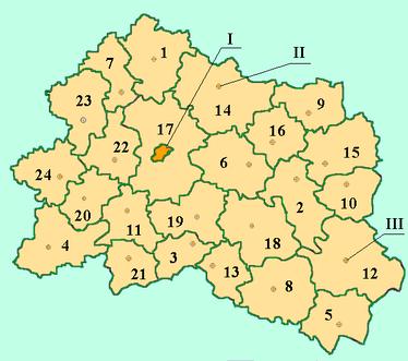 Административная карта Орловской области