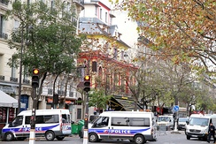 The Bataclan the day after the mass shooting and explosive detonation