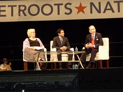 Specter (far right) at the 2009 Netroots Nation convention in Pittsburgh