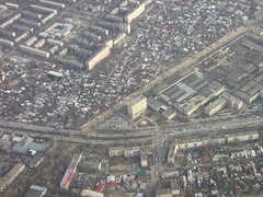 Aerial view of Raymbek avenue