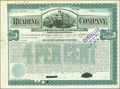 Gold Bond of the Reading Company, issued 19. June 1902