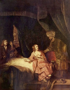 Joseph Accused by Potiphar's Wife, by Rembrandt van Rijn, 1655.