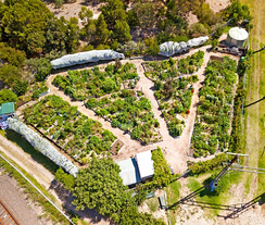 Rushall Garden aerial view