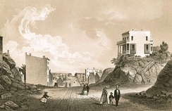 Second Avenue facing north from 42nd Street in 1861