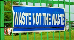 Waste not the Waste. Sign in Tamil Nadu, India