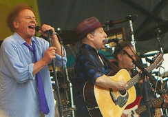 The duo at their most recent performance – the 2010 New Orleans Jazz and Heritage Festival[113]