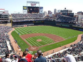 Target Field during a game vs. Kansas City in 2010