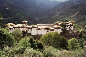 Trongsa Dzong, the largest dzong fortress in Bhutan.