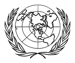 Insignia appeared in the frontispiece of the charter, prototype of the current logo of the United Nations.