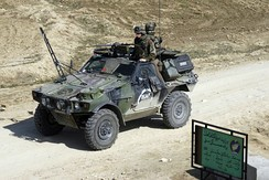VBL (armoured light vehicle) of the 1st Parachute Hussar Regiment in Afghanistan.