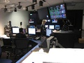 Fox Business Network's Master Control room with lights on.