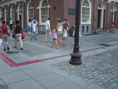 Freedom Trail next to Faneuil Hall