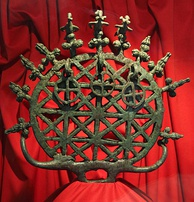 One of the Alaca Höyük bronze standards from a pre-Hittite tomb dating to the third millennium BC, from the Museum of Anatolian Civilizations, Ankara.