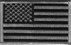 "A subdued-color flag patch, similar to style worn on the United States Army's ACU uniform. The patch is normally worn reversed on the right upper sleeve. See explanation in ""Display on uniforms"" section below."