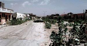 An abandoned MOGADISHU Street known as the Green Line, Jan 1993.JPEG