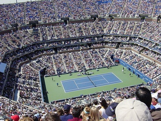 Arthur Ashe Stadium, built in 1997 at the USTA National Tennis Center in New York City, is the world's largest tennis venue.