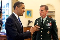 President Obama and McChrystal in the Oval Office in May 2009.