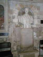Bust of William Otter in Chichester Cathedral