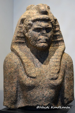 Caracalla as Pharaoh. Roman Period, found from the Nile Bank opposite Terenouthis. Alexandria National Museum.[72]