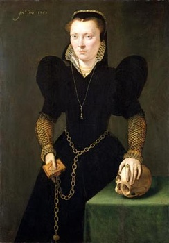 Portrait of Katheryn of Berain by Adriaen van Cronenburg c.1560. Shakespeare's 1601 poem The Phoenix and the Turtle was published in a collection dedicated to Katheryn's son, John Salusbury.