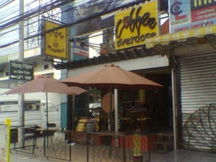 A coffee shop in Angeles, Philippines