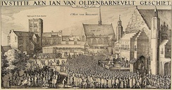 May 13: Grand pensionary Johan van Oldenbarnevelt is executed in The Hague