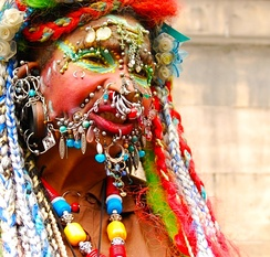 "Elaine Davidson, the ""Most Pierced Woman"" in the world as of 2009"