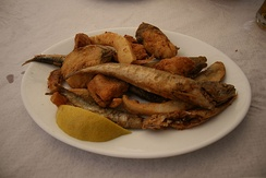 Pescaíto frito, originating from the 16th century Andalusian Jews of Spain and Portugal