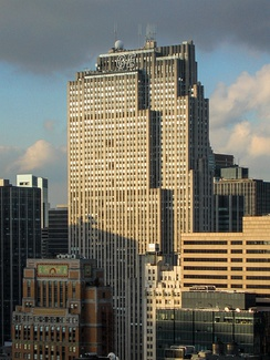 The Comcast Building in New York City (or the GE Building, originally the RCA Building) serves as the headquarters of NBC