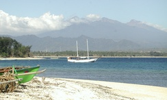 Mount Rinjani seen from Gili Air