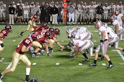 A night game between Harvard and Brown, September 25, 2009