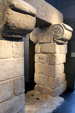 Royal fortress gate from Canaanite city of Hazor, now in the Israel Museum