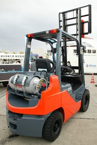 An autogas-powered forklift in Japan.