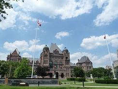 The Ontario Legislative Building, from which Rae governed Ontario as the first NDP premier of the province