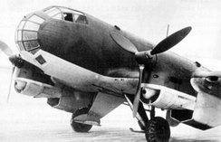 A Ju 86P high-altitude reconnaissance aircraft, with Jumo 207 turbocharged diesel powerplants.