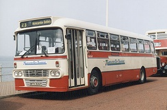 Preserved Lancaster City Transport Y type bodied Leyland Leopard in Blackpool in August 2001