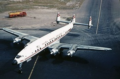 Lockheed Constellation in TWA livery