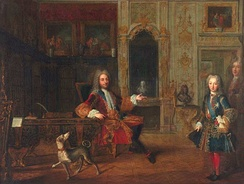 Louis with the regent, Philippe of Orleans (1718)