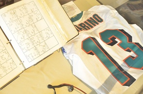Dan Marino jersey shown at Pro Football Hall of Fame in Canton, Ohio