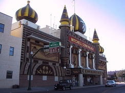 The Corn Palace, a longtime sight of McGovern's hometown of Mitchell, South Dakota
