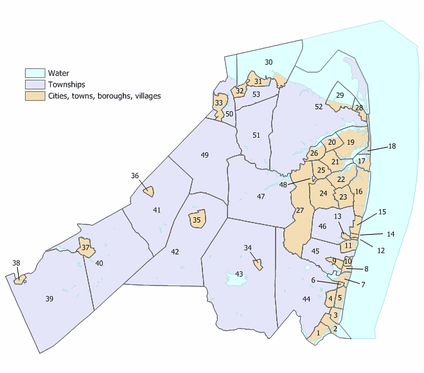 Index map of Monmouth County municipalities (click to see index key)