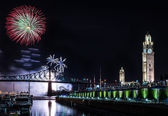Montreal Fireworks Festival is the world's largest annual fireworks festival. The city hosts a number of festivals annually.