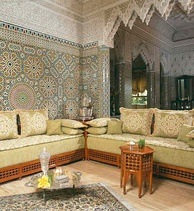 A Moroccan living room.
