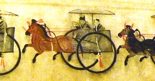 Powerful landlord in chariot, Eastern Han 25–220 CE. Hebei, China