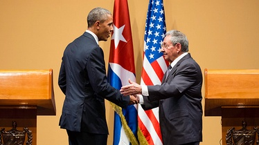 President Obama and Cuban President Raúl Castro at their joint press conference in Havana, March 21, 2016